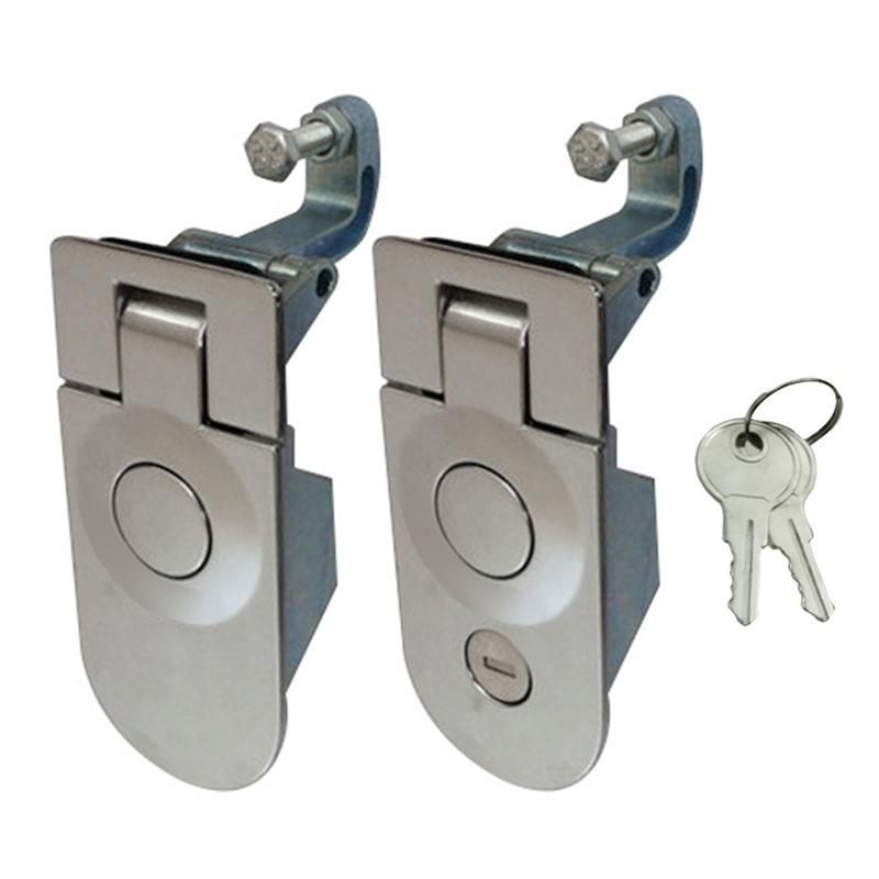 Home Hardware Button Lock Touring Car RV Mechanical Cupboard Drawer Tubular Cam Spring Button Cabinet Safety Lock With Key