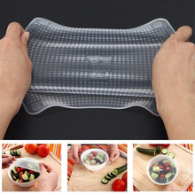 4pcs/set Silicone Food Wraps Reusable Keeping Food Fresh Saran Wrap Bowl Pot Seal Vacuum Cover Stretch Lid Kitchen Accessories silicone food wrap bowl pot cover stretch lid kitchen vacuum sealer