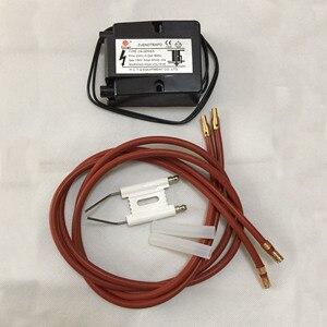 Image 1 - Queimador de alta tensão pulso ignição cerâmica agulha caldeira combustão gás fogão ignitor duplo couplet faísca eletrodo