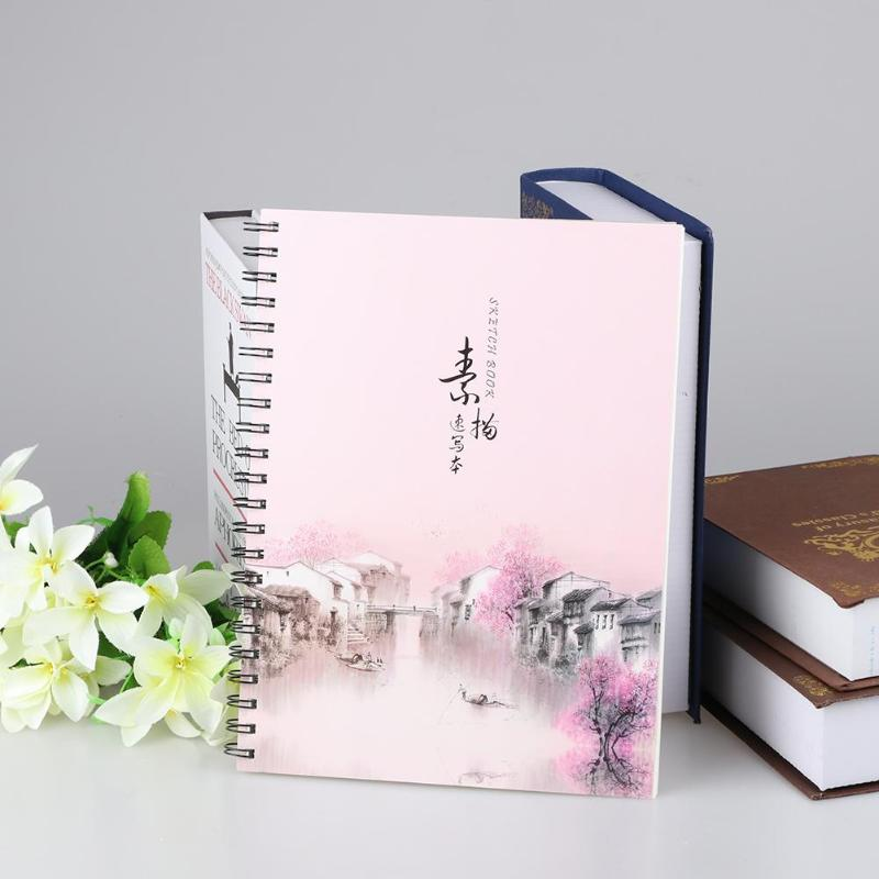 A4 Paper Sketchbook 32 Sheets Drawing Painting Graffiti Sketch Book Memo Notebook Notepad Office School Stationery Art Supplies
