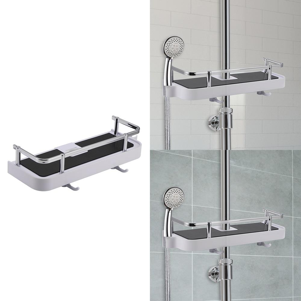 Bathroom Fixtures Bathroom Shelf Shower Storage Rack Holder Bathroom Shower Tray Rack Washer Shower Set Lift Rod Shower Bracket Clear-Cut Texture Bathroom Hardware