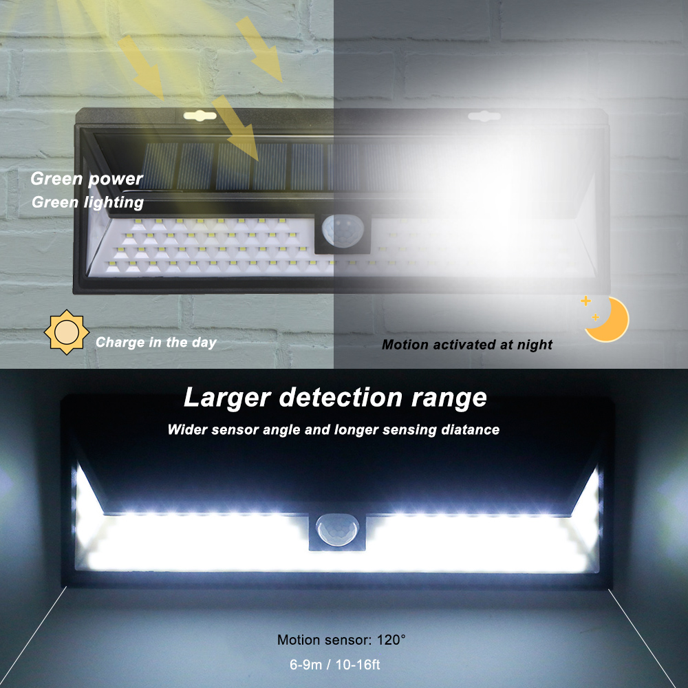 54 / 90 LED Solar Wall Light Outdoor PIR Motion Sensor Solar powered Lamp With Remote Control Solar powered Lamp