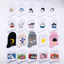 New Cute Crayon Shin Chan Patterned Socks Women Cartoon Cotton Cool Short Hipster Skateboard Ankle Funny Female Sox