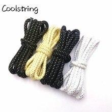 Coolstring 4,5 мм Модные Полосатые блестящие круглые веревочные шнурки блестящие мерцающие шнурки для обуви блестящие для спортивной парусиновой обуви