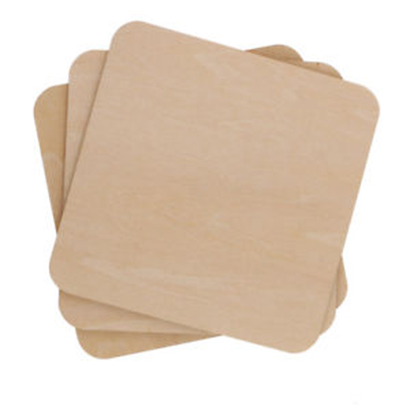 50/100pcs Wooden Pieces Blank Plaque Square MDF Unfinished  For Building Model DIY Crafts Pyrography Projects Games Scrapbooking