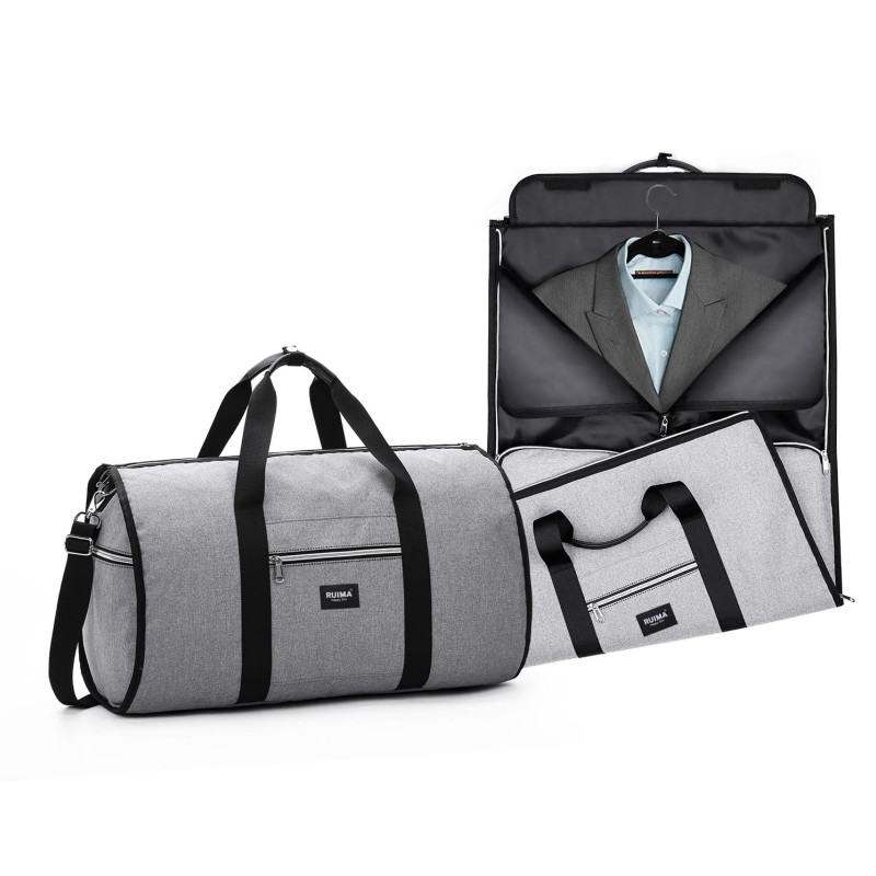 2018 New Waterproof Zipper Garment Travel Bags Suit Bag Durable Men Business Trip Travel Duffle Bag for Suit male luggage bag(China)