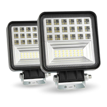 цена на 1 Pair 400W 6000K 40000LM LED Work Light Bar Flood Spot Beam Offroad 4WD SUV Driving Fog Lamp