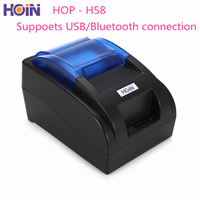 HOIN HOP H58 USD Bluetooth Thermal Cash Receipt Printer POS Printing Instrument Supports Android and IOS system