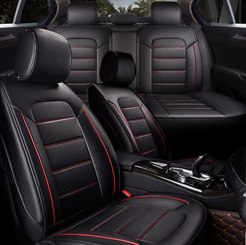 Universal Luxury Full Seat PU Leather Sponge Fabric Car Seat Cover 3D  Breathable Cushions