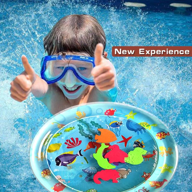 Baby Kids Water Play Mat Inflatable Thicken PVC Infant Gym Playmat Toys Environmental Safety Pad For Infant Movement