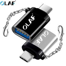 OLAF USB C OTG Type C To USB 3.0 OTG Type-C Adapter Converter Cable For Samsung S8 S9 One Plus 6t 6 5t Huawei Xiaomi Type c OTG(China)