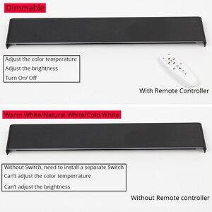 Image 5 - 61 cm/76 cm led 벽 램프 현대 침실 벽 빛 거실 계단 조명 장식 알루미늄 디 밍이 가능한 원격 제어