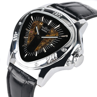 Mens Triangle Mechanical Watch Winner Series Automatic self winding Watch Commerce Style Mechanical Watches Relogio Masculino|Mechanical Watches| |  -