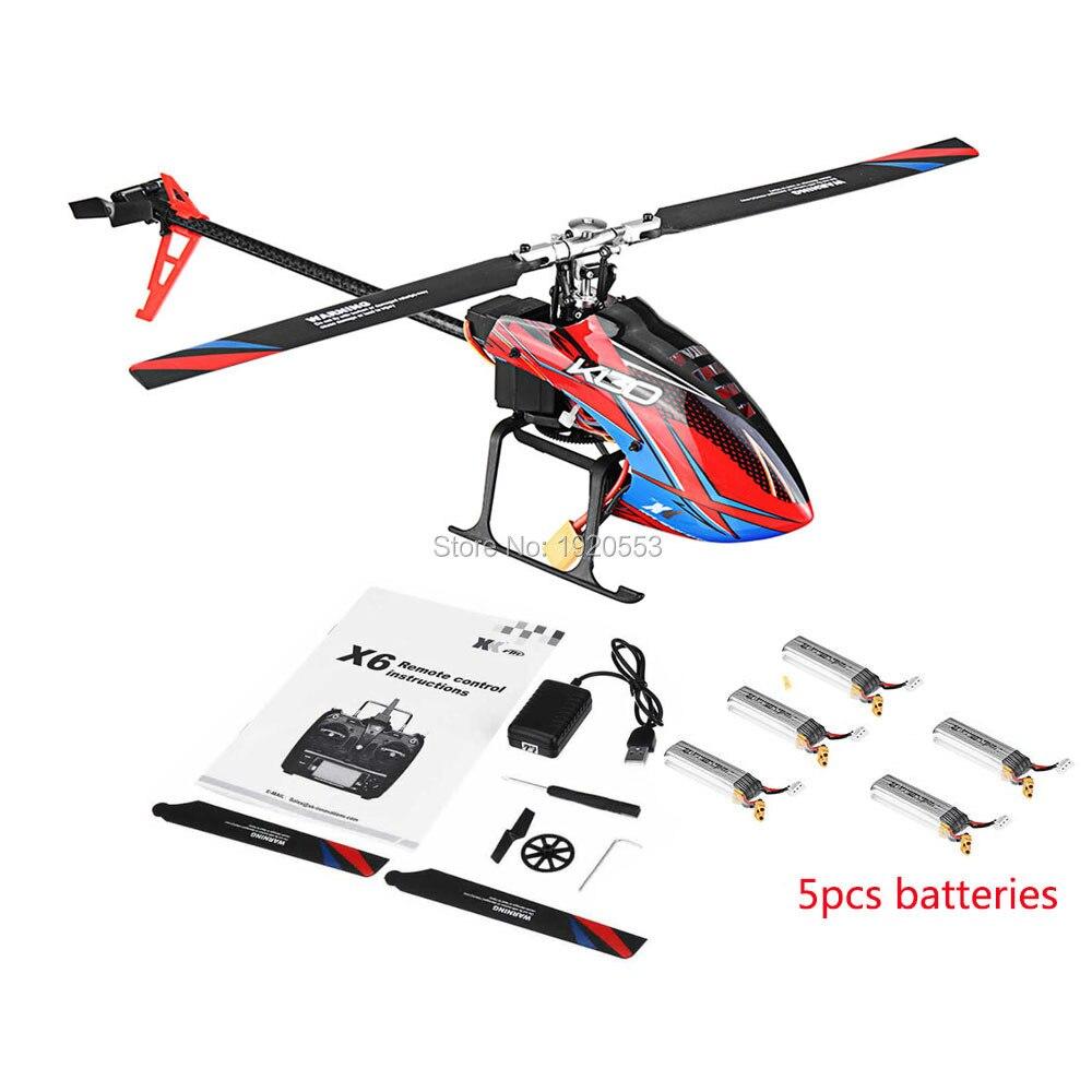 Oyuncaklar ve Hobi Ürünleri'ten RC Helikopterler'de Wltoys XK K130 B 2.4G 6CH Fırçasız 3D 6G Flybarless BNF RC Helikopter Için Süper Uyumlu FUTABA S FHSSRTF Yok verici'da  Grup 3