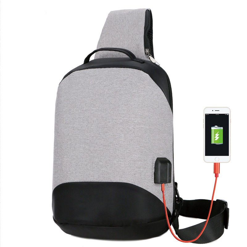 New Style Anti-Theft Chest Men Comes with USB Charging Cross-Body Backpack  Leisure 5a9524d47af6d