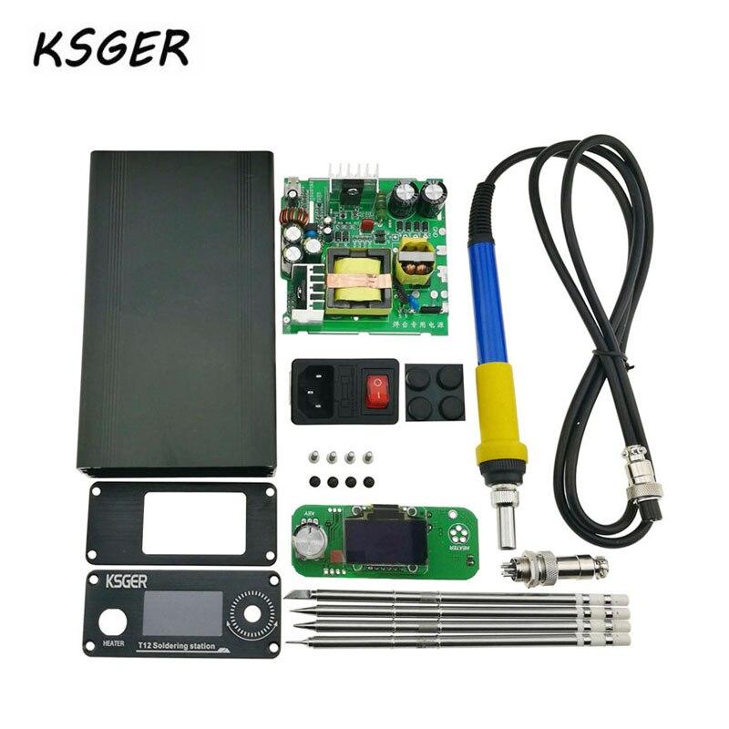 KSGER 3.0 STM32 OLED DIY Electric Unit Digital Soldering Iron Station Temperature Controller For T12 Soldering Tip Durable