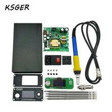 KSGER 3,0 STM32 OLED DIY Elektrische Einheit Digitale Lötkolben Station Temperatur Controller für T12 Löten Tipp Durable