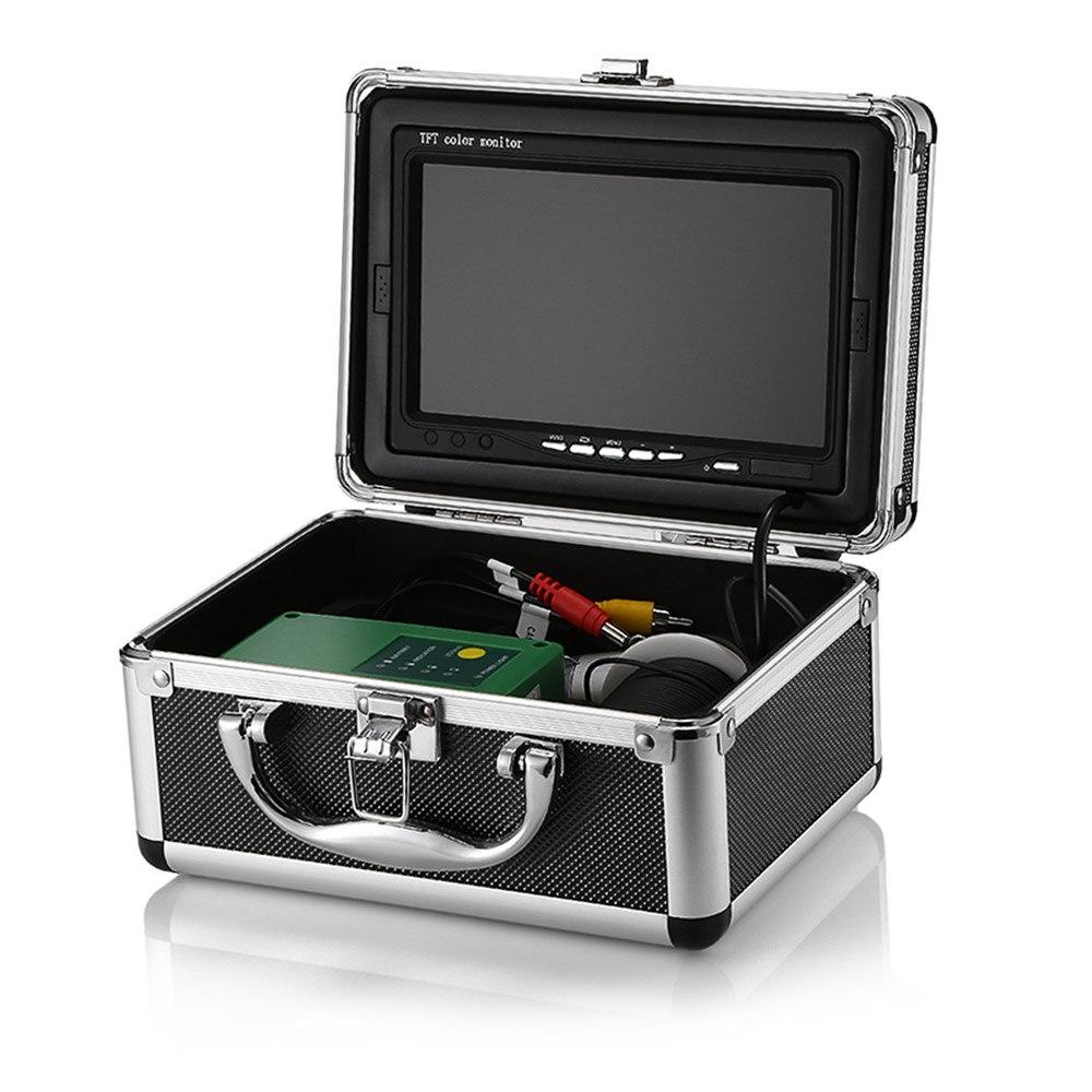 7.0 pouces HD 1000TVL sous-marin poisson trouveur caméra de pêche vidéo pêche vidéo caméra Kit 15 pièces blanc LEDs Fishfinder 15 m gamme