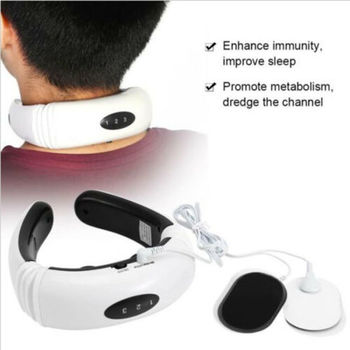 Neck Massager Pro Shiatsu Kneading Shoulder Massage Belt Heat Function Noted USB Gadgets