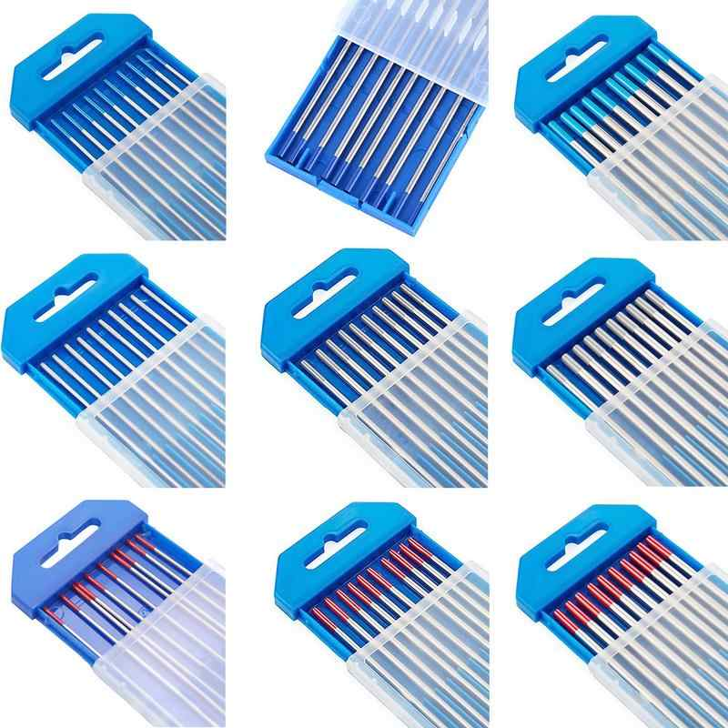 "TIG Welding Tungsten 2/% Lanthanated Electrode 3//32 x 7/"" Length 10 pack Lt Blue"