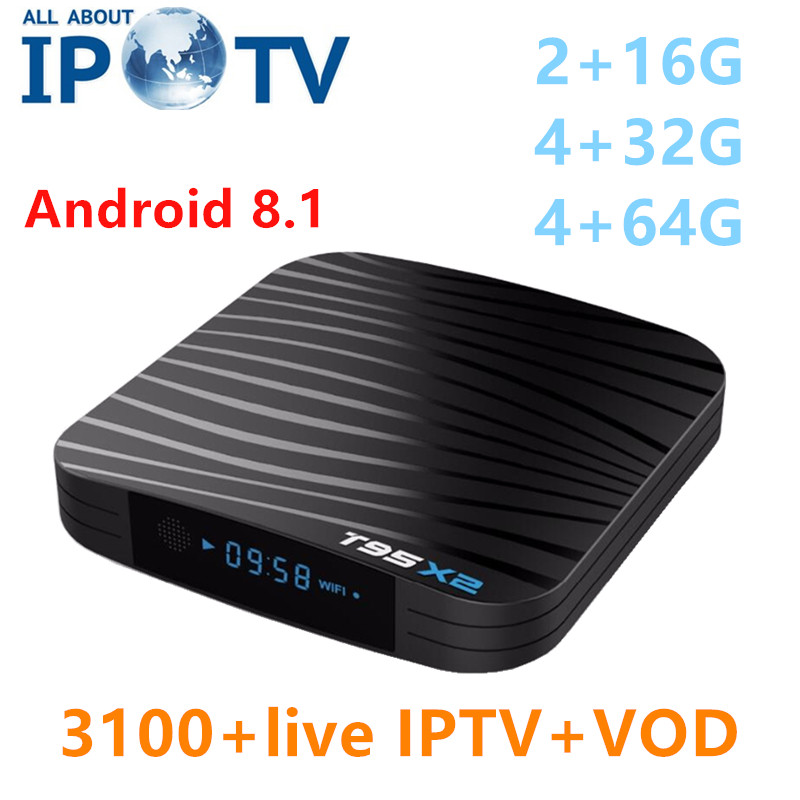 2019 New Android 8 1 T95 X2 Tv Box USA Canada North America IPTV UK Denmark