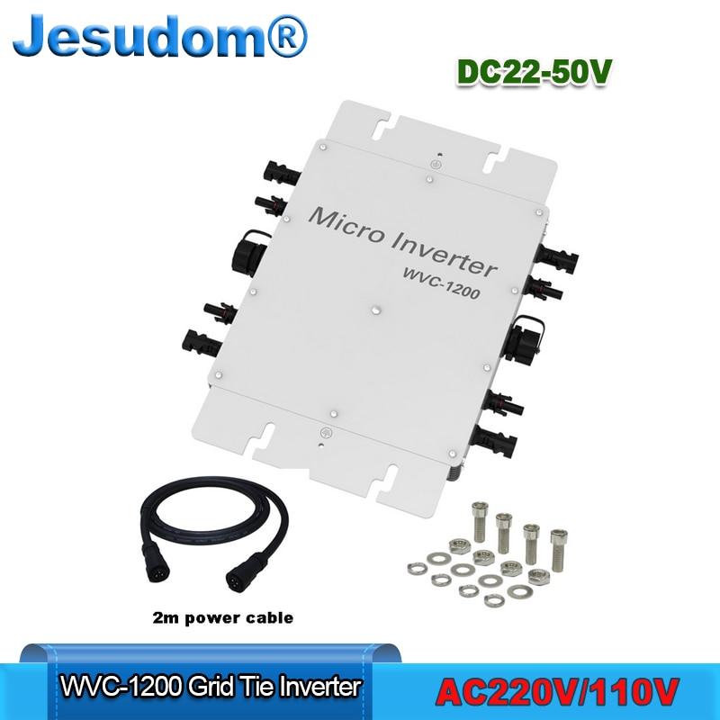 1200W Waterproof Grid Tie Inverter MPPT DC22-50V Soalr Pure Sine Wave Inverter