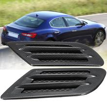 Крышка автомобильного капота из углеродного волокна для забора воздуха боковое крыло вентиляционное отверстие капота Совок наклейка