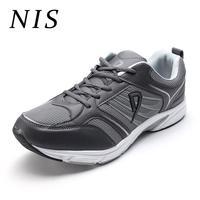 NIS Большие размеры 45-52 мужские кроссовки для Мужская Спортивная обувь дышащие сетчатые на шнуровке Повседневная обувь для бега вулканическ...
