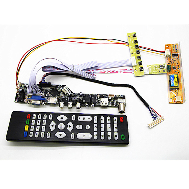 "TV+HDMI+VGA+AV+USB+AUDIO TV LCD Controller Board kit 15"" LTN150XB L03 1024*768 LCD controller board DIY kits"