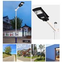Landscape Solar Rustproof Garden Outdoor Radar Induction Led ABS Plastic Wall Lamp 20W Waterproof Street Light PIRMotion Sensor