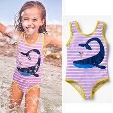 2018 Girls Whale One Piece Swimsuit Summer Kids Girls One Piece Swimwear Bathing Suit Swimsuit Bikini Beachwear Maillot De Bain цена