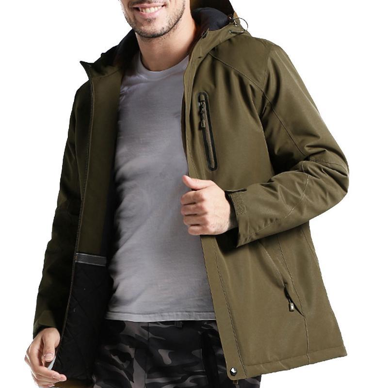 Hommes hiver épais USB chauffage coton veste extérieure imperméable coupe-vent randonnée veste Camping Trekking escalade manteaux