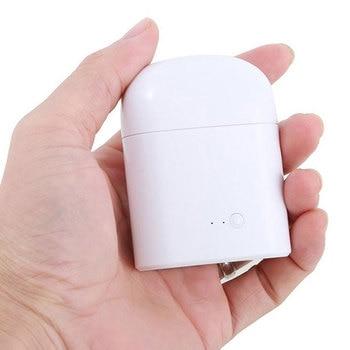 Fone de ouvido Bluetooth I7s TWS fone de ouvido estéreo Bluetooth fone de ouvido com carregamento Pod Pod fones de ouvido sem fio microfone para todos os telefones inteligentes 1