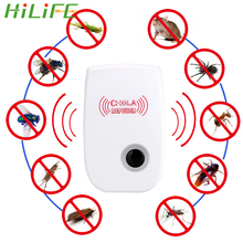 HILIFE Rodent Contro Electronic mosquito repellent Ultrasonic Pest Repeller Indoor Cockroach Mosquito Insect Killer EU/US Plug