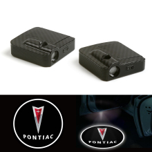 Wired Led Car Logo Door Welcome Shadow Light Fit for Pontiac Laser Projector (For Fits: Pontiac) 12V