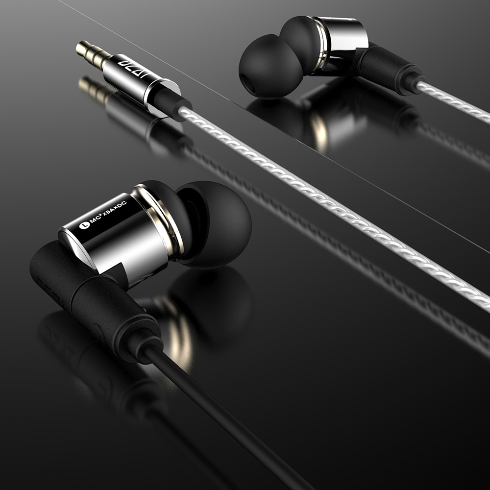 DZAT DT 10 HiRes Earphones 1BA 2DD Hybrid Earbuds Music Stereo Heavy Bass Headphone Microphone Wired