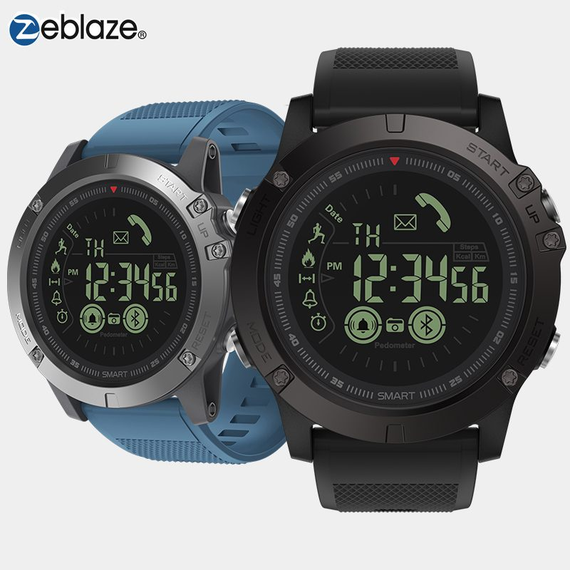 New Zeblaze VIBE 3 Flagship Rugged Smartwatch Bracelet Heart Rate Monitor Upgrate 5ATM 33 Month Long Standby Sport Smart Watch