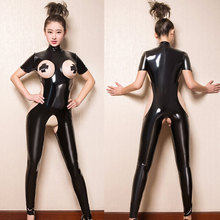 Latex Bodysuit Womens CLUB Costume Crotchless Footed Jumpsui