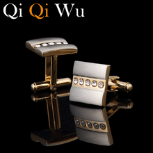 French Shirt Golden Plated Square Cufflinks For Men Unique Mens Gold Jewelry Wedding Groom Cuff Links Business With Gift Box сменный нож для ucr 9 550 45 498