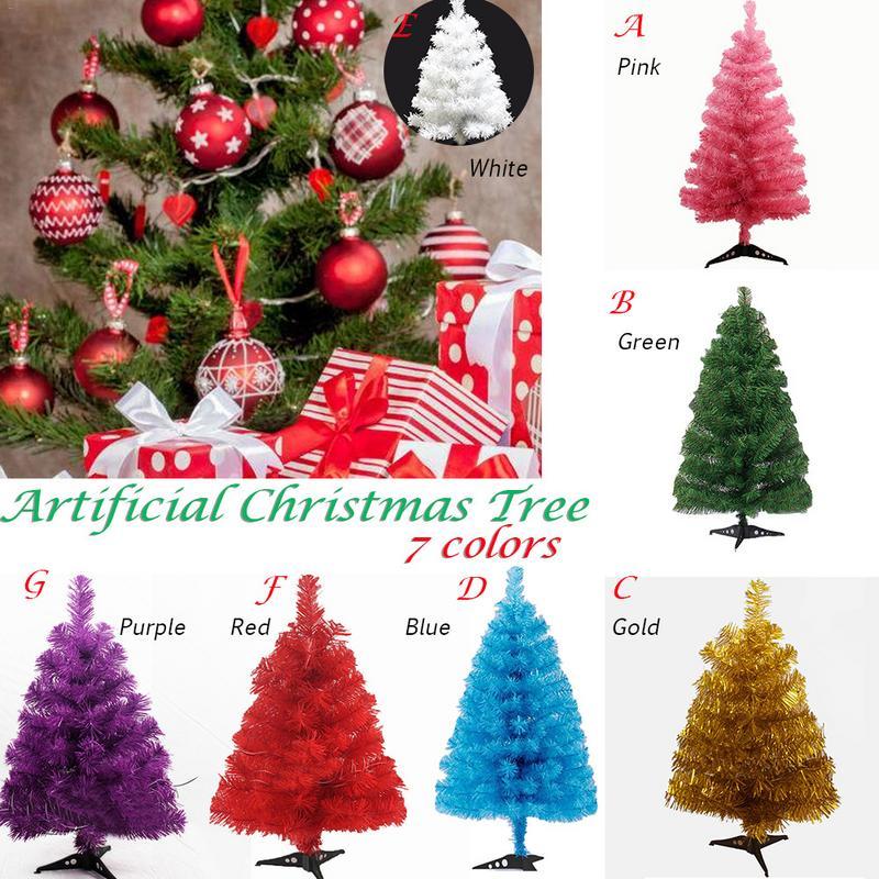 60cm Artificial Christmas Tree Snowflake Xmas Plastic Tree New Year