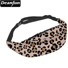 Deanfun Leopard Pattern Fanny Pack for Women Soft Polyester Water Resistant Adjustable Waist Travel  YB-73