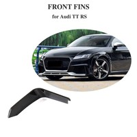 Carbon Fiber Bumper Fins For Audi TTRS 2 Door Coupe 2pcs Parts 2016 2018