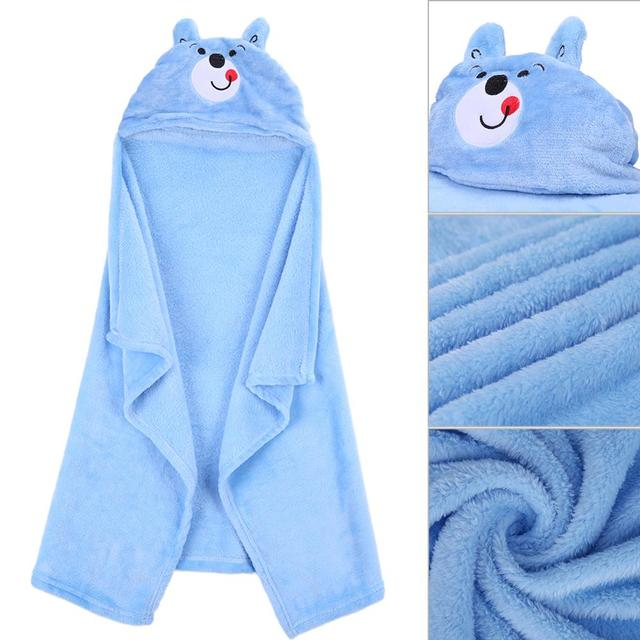 Hudson Baby Animal Face Hooded Towel for Girls Pretty