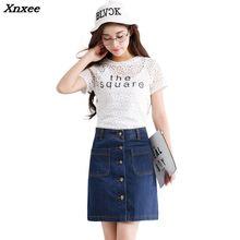 INS 2018 sumemr fashion Women ladies Korean Mini denim Skirt low Waist A-line Pencil jean harajuku skirt Xnxee