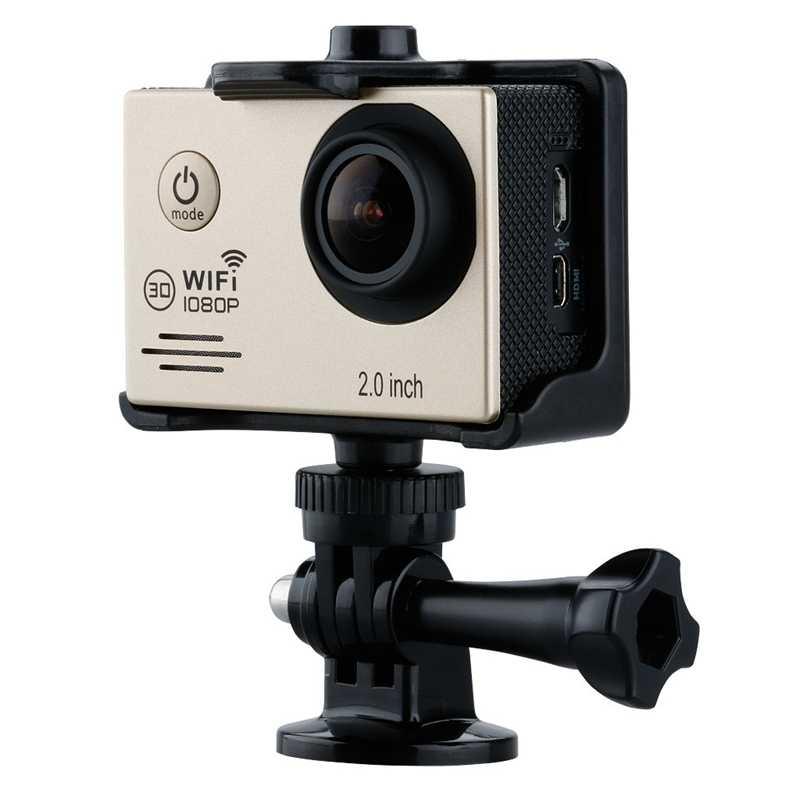 "Mini 2 ""14MP Wi-fi 1080 P Full HD Ação À Prova D' Água Câmera DV Cam Leme Esporte Ouro"
