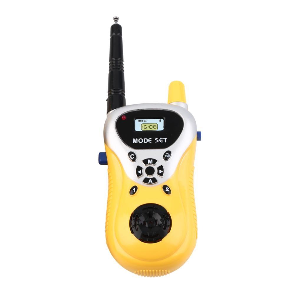 New 2Pcs Kids Children Toys Outdoor Games Walkie Talkie Girls Boys Mini Interphone