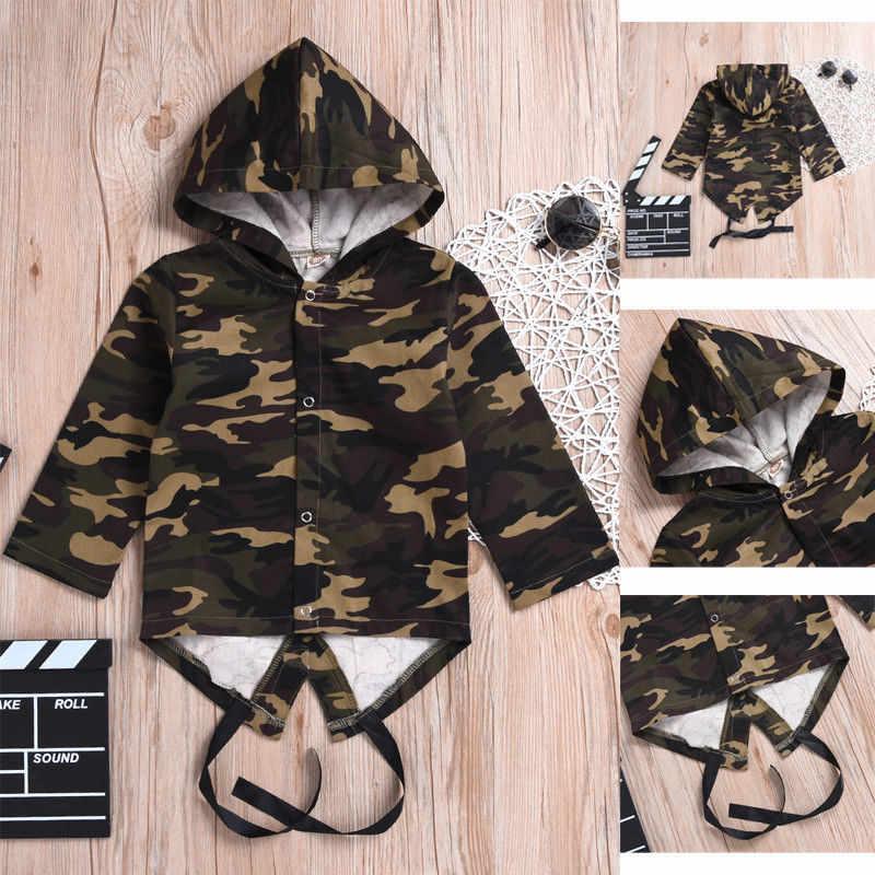 Freeshipping RU US 2019 nueva Camo chaqueta niños pequeños bebés niñas abrigo de manga larga ropa exterior 0-24M abrigo de algodón para bebé