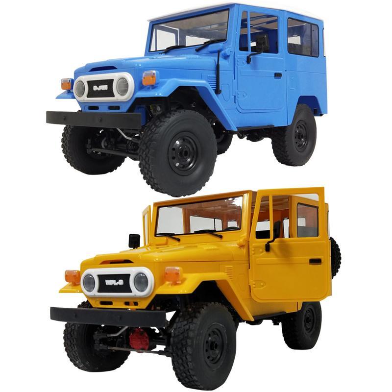 WPL nouveau RC voiture C34 tout-terrain télécommande voiture jouets RTR KIT tout-terrain télécommande voiture Cool jaune bleu pour Cross-escalade