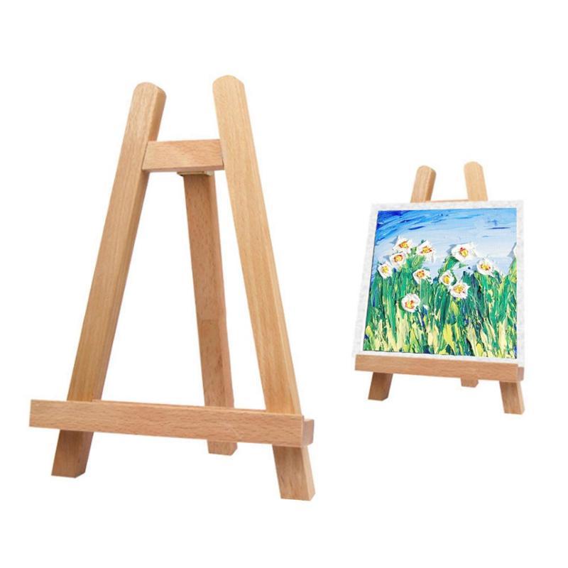 VODOOL Mini Artist Wooden Folding Painting Easel Frame Adjustable Tripod Display Shelf Outdoors Studio Display Frame