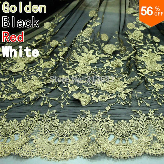 3D trim Golden 2 layer lace tulle voile flowers veters embroidery textile fabrics electronic laces new gold fabric lace ribbon